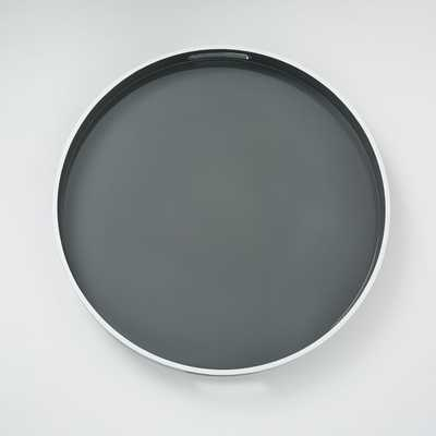White Rim Lacquer Trays - Round - West Elm
