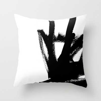 """Abstract black & white 1 -  INDOOR COVER (20"""" X 20"""") WITH PILLOW INSERT - Society6"""