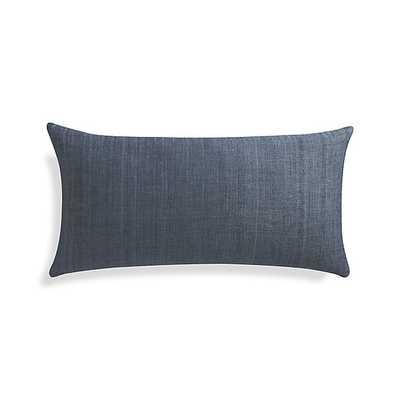 """Michaela Dusk Blue 24""""x12"""" Pillow-Insert - Crate and Barrel"""