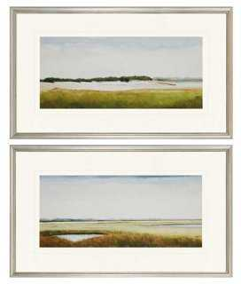 "Marshlands II Diptych - 18"" x 30"" Framed Art - set of 2 - One Kings Lane"