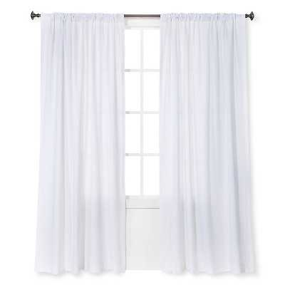 "Curtain Panel Linen-Look - 54"" W X 84"" L - Target"