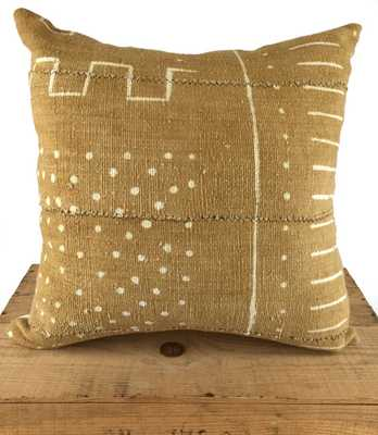 African Mud Cloth Pillow Cover, Brown/Tan - 20x20 - Insert sold separately - Etsy