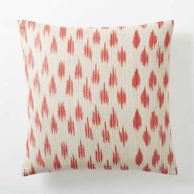 "Metallic Ikat Dot Pillow Cover - 20""sq. - Poppy - Insert sold separately - West Elm"