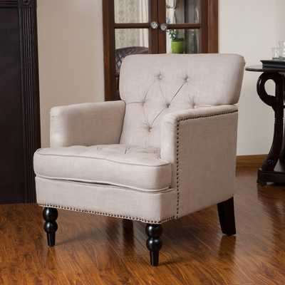 Christopher Knight Home Malone Beige Club Chair - Overstock