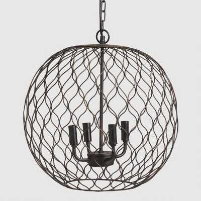 Dark Bronze Globe Farmhouse Chandelier - World Market/Cost Plus