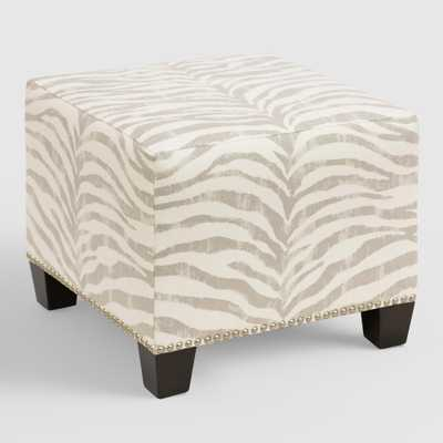Tropo Cloud McKenzie Upholstered Ottoman - World Market/Cost Plus