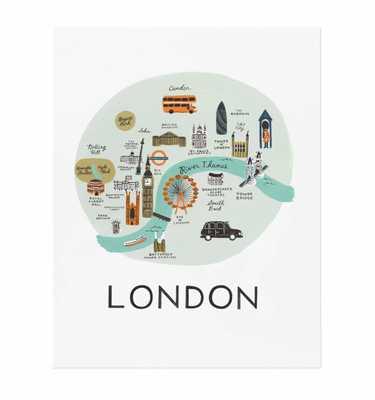 LONDON ILLUSTRATED ART PRINT, no frame - riflepaperco.com
