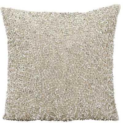 """Sequins & Seed Beads Throw Pillow, Silver - 18''x 18"""" - Polyfill insert - Wayfair"""