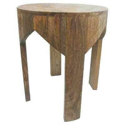 Wooden Etched Round Table - Tan - Nate Berkus - Target