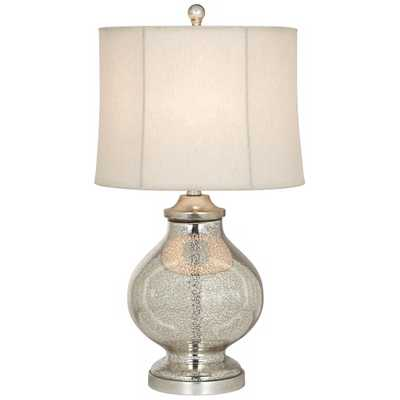 Modern Tall Silver Glass Table Lamp - Lamps Plus