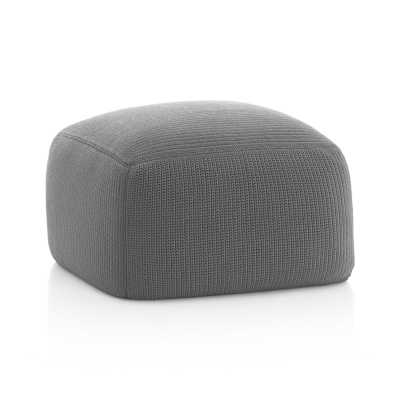 Outdoor Square Graphite Pouf - Crate and Barrel