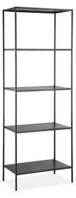 "Slim Bookcases in Natural Steel, 24"" W - Room & Board"