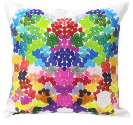 "On Fire Pillow - 18"" L X 18"" H - Feather/down insert - Domino"