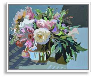 "Kate Mullin, Blue Arrangement - 24"" x 20"" - White Frame - One Kings Lane"