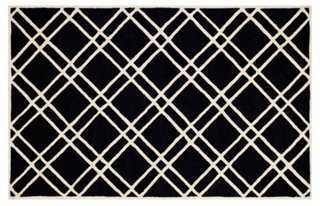Alicia Rug, Black/Ivory - One Kings Lane