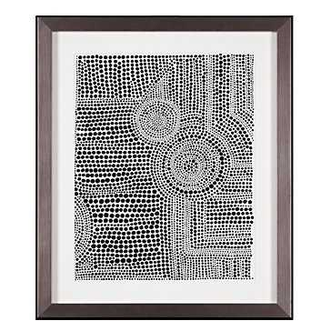 Clustered Dots A - 26.25''W x 31.75''H - Framed (Pewter) - Z Gallerie