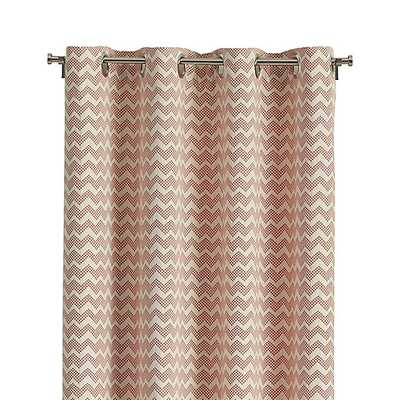 """Reilly Orange Chevron 50""""x84"""" Curtain Panel - Crate and Barrel"""