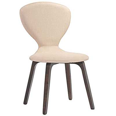 TEMPEST DINING SIDE CHAIR IN WALNUT BEIGE - Modway Furniture