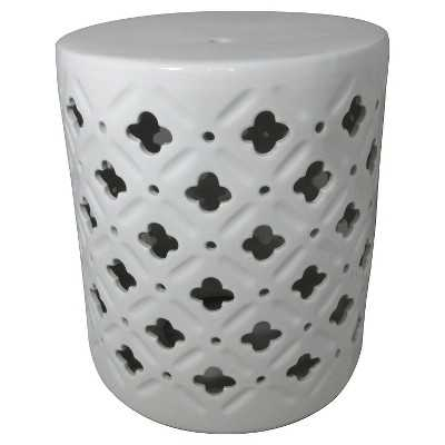 "Ceramic Accent Table - Cream/Clover - Thresholdâ""¢ - Target"
