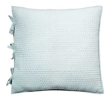 Pick-Stitch Handcrafted Sham, Euro, Porcelain Blue - Pottery Barn