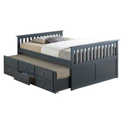 Broyhill Kids Marco Island Captain's Bed - Full - Grey - Target