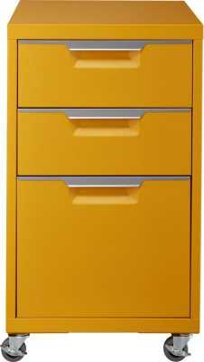 TPS marigold 3-drawer filing cabinet - CB2