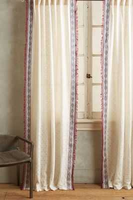 Thayer Curtain-108'' - Red - Anthropologie