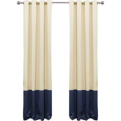 Colorblock Thermal Insulated Grommet Top Blackout Curtain Panels - Wayfair