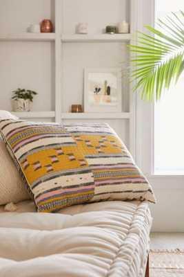 "Lena Kantha Stripe Pillow-Yellow-18""x24"" - Urban Outfitters"