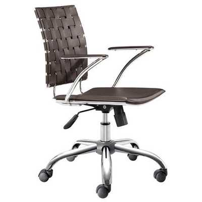 Criss Cross Office Chair (Espresso) by Zuo Mdoern - Bella Seating