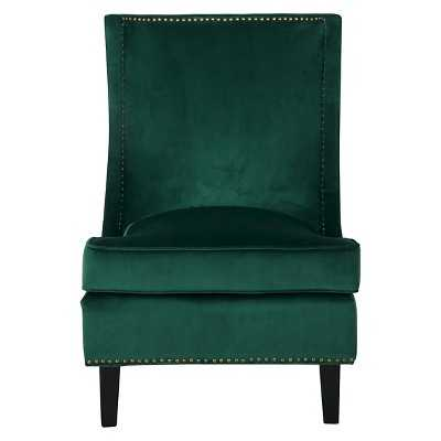Christopher Knight Home Carole Velvet Single Sofa Accent chair-Green - Target