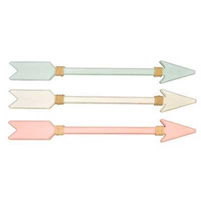 "3-Pack Pink/Teal/White Arrow Plaques - Pillowfortâ""¢ - Target"