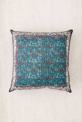 """Palisades Floral Pillow - Blue - 24""""l x 24""""w - Poly fill insert - Urban Outfitters"""