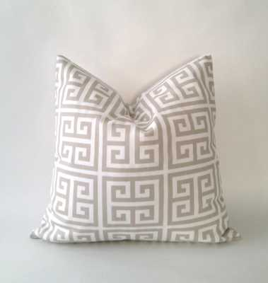 Greek Key Print Decorative Pillow Covers - 18x18 - Tan/White - No Insert-Set of 2 - Etsy
