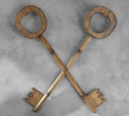 Wooden keys -Large - Pottery Barn