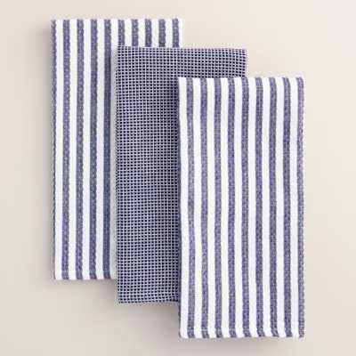 Waffle Weave Kitchen Towels Set of 3 - World Market/Cost Plus