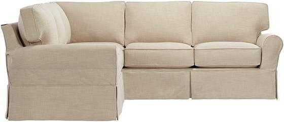 MAYFAIR SLIPCOVERED SECTIONAL - Linen Pearl - Home Decorators