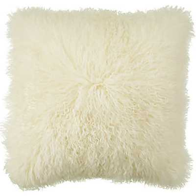 Mongolian Pillow Natural -20x20-Insert included - High Fashion Home