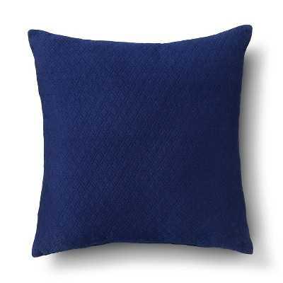 """Room Essentialsâ""""¢ Diamond Textured Pillow (18x18"""")- Nighttime blue- Polyester  fill insert - Target"""