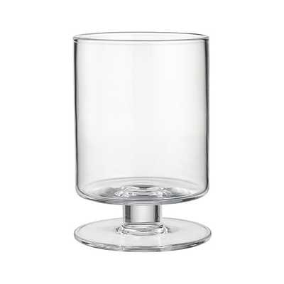 London Short Glass Hurricane Candle Holder - Crate and Barrel