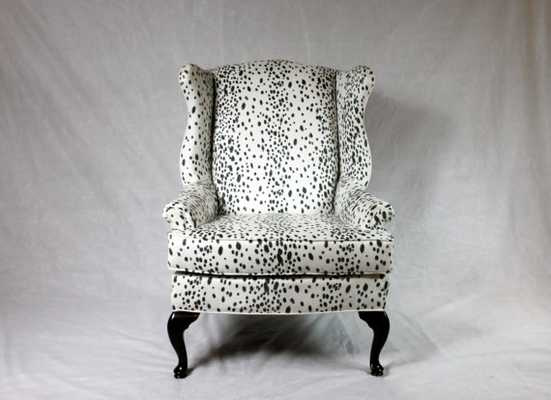 SOLD- CAN REPLICATE Dalmatian Wing Back Chair - Etsy