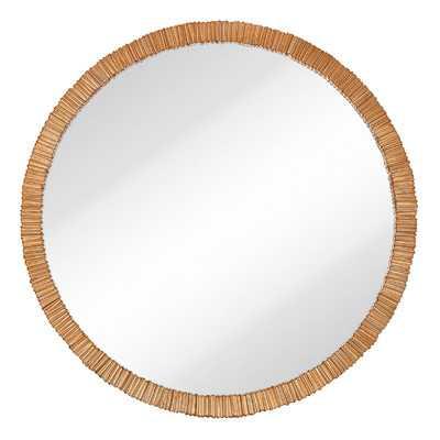 Simple Circular Textured Framed Glass Wall Mirror - Wayfair
