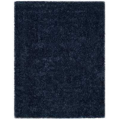 Safavieh Handmade Toronto Shag Navy Polyester Rug (8' x 10') - Overstock