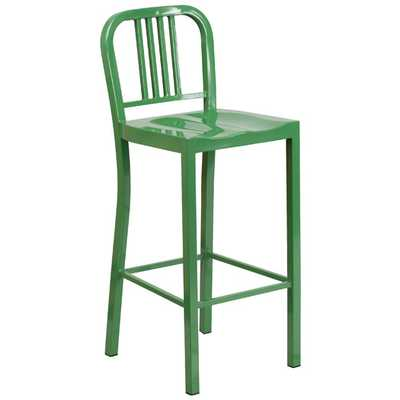 "30"" Bar Stool-Green-Set of 2 - AllModern"