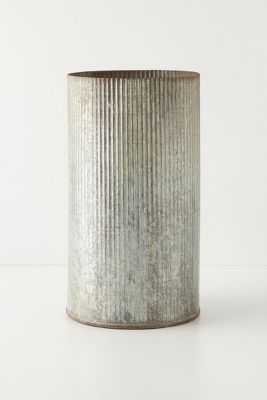 Ridged Zinc Pot - Large - Anthropologie