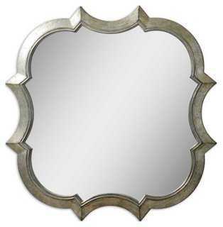 Franca Wall Mirror, Silver - One Kings Lane