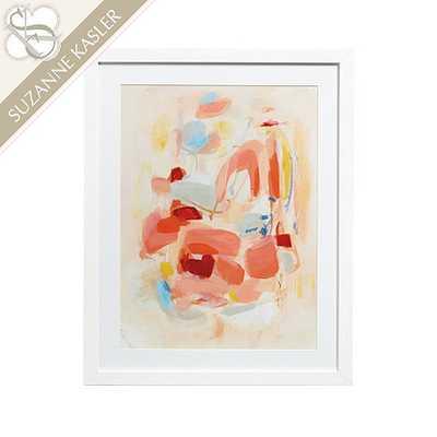 Suzanne Kasler Whisper Abstract Art - Print V - 38x30- Framed (Matte white) - Ballard Designs