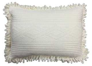 Cable Knit Cloud 14x20 Pillow, Cream- feather/ down fill - One Kings Lane