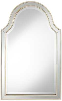 """Uttermost Ela Antiqued Silver 24""""x38"""" Arch Wall Mirror - Lamps Plus"""