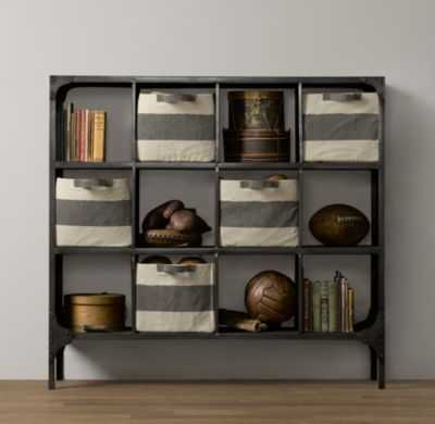 foundry metal cubby system - wide - RH